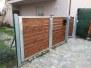 cancello pedonale zincato e legno ID87